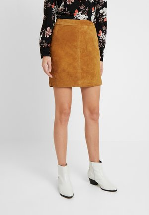 NMWREN SKIRT - Lederrock - sudan brown