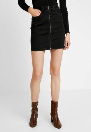 NMBE LUCY ZIP SKIRT - Jupe en jean - black denim