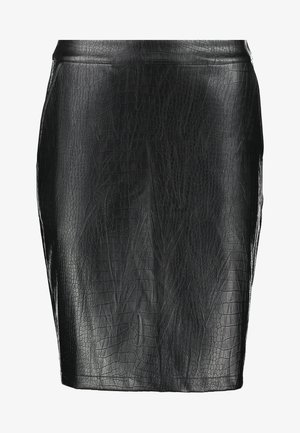 NMKELLY  CROCODILE SKIRT - Falda de tubo - black