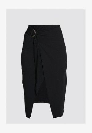 WRAP SKIRT TALL - Pouzdrová sukně - black