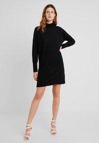 Noisy May Tall - NMCITY BAT SHORT DRESS - Jumper dress - black - 1