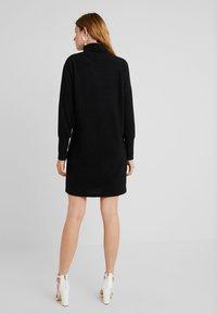 Noisy May Tall - NMCITY BAT SHORT DRESS - Jumper dress - black - 2
