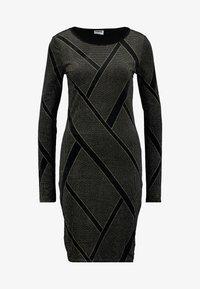 Noisy May Tall - NMDIVA SHORT DRESS - Cocktailkleid/festliches Kleid - black/gold - 4