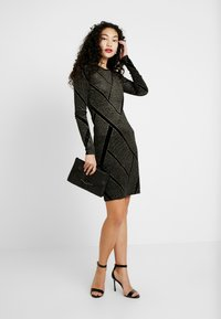 Noisy May Tall - NMDIVA SHORT DRESS - Cocktailkleid/festliches Kleid - black/gold - 2