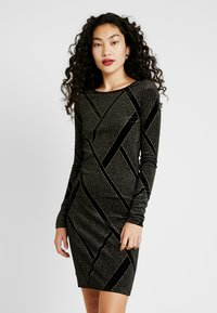 Noisy May Tall - NMDIVA SHORT DRESS - Cocktailkleid/festliches Kleid - black/gold - 0