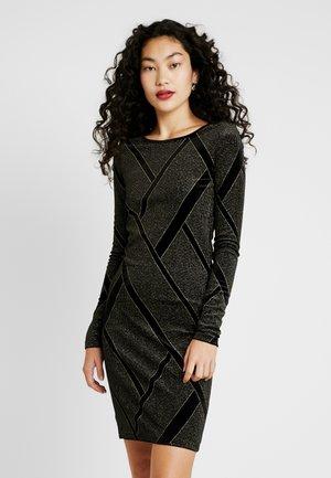 NMDIVA SHORT DRESS - Koktejlové šaty/ šaty na párty - black/gold
