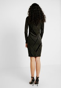 Noisy May Tall - NMDIVA SHORT DRESS - Cocktailkleid/festliches Kleid - black/gold - 3