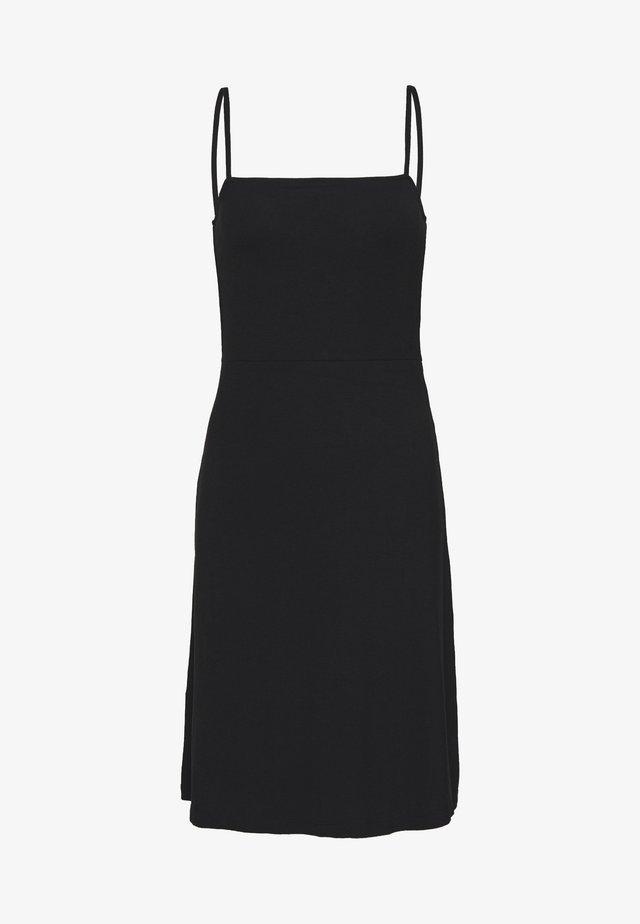 NMSUMMER STRAP DRESS - Jersey dress - black