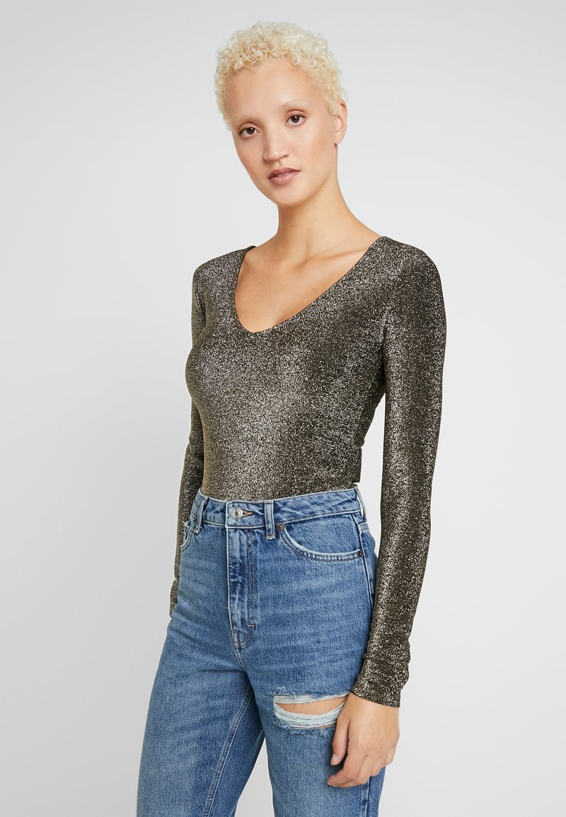 Noisy May Tall - NMINFINITY DEEP BODY - Longsleeve - gold