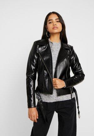 NMMASJA JACKET - Faux leather jacket - black