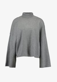 Noisy May Tall - NMSHIP ROLL NECK - Strickpullover - medium grey melange - 4