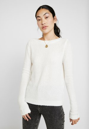 NMSARA COLD SHOULDER - Jumper - sugar swizzle