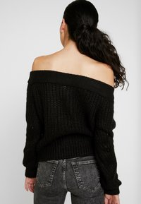 Noisy May Tall - NMPHOEBE OFF SHOULDER - Trui - black - 2