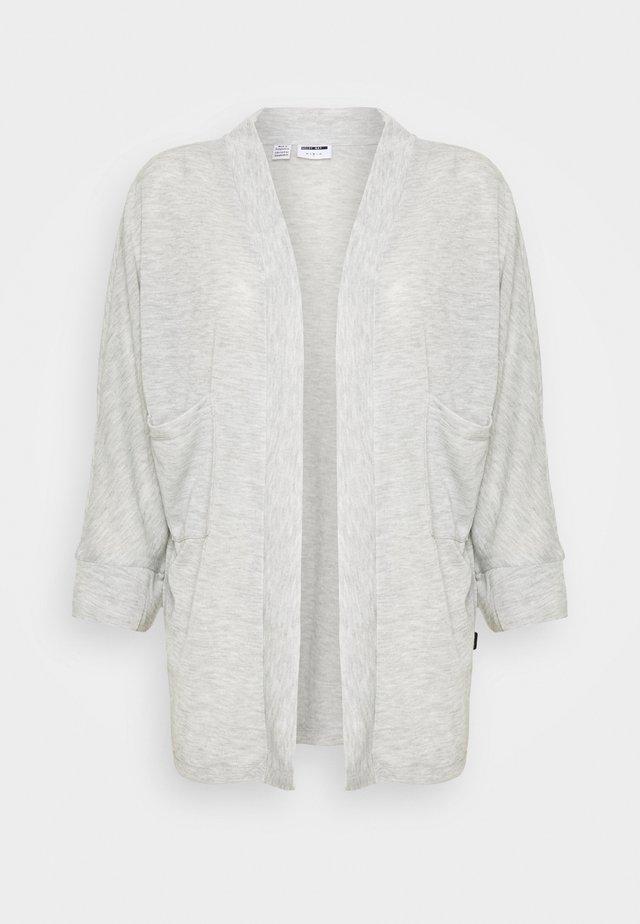 NMMOLLY CARDIGAN - Cardigan - light grey melange