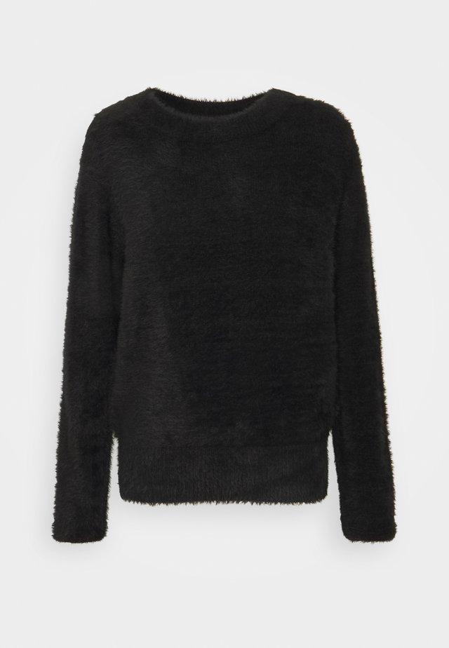 NMJESS O NECK - Sweter - black