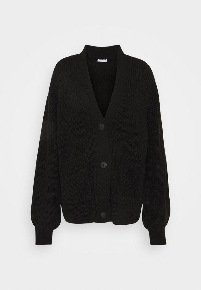NMTOMMY CARDIGAN - Vest - black