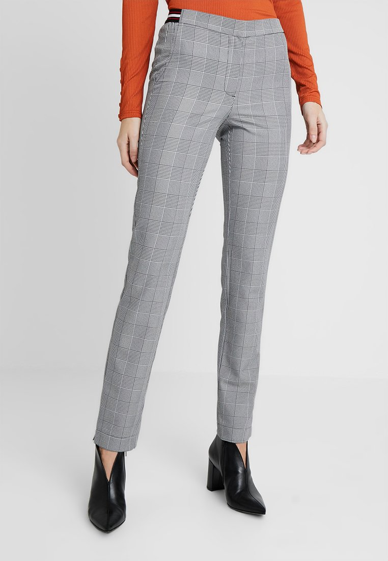 Noisy May Tall - NMMELISSA FITTED CHECKED PANT - Bukser - black
