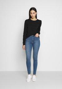 Noisy May Tall - NMELI PUFF TALL - Sweatshirt - black - 1