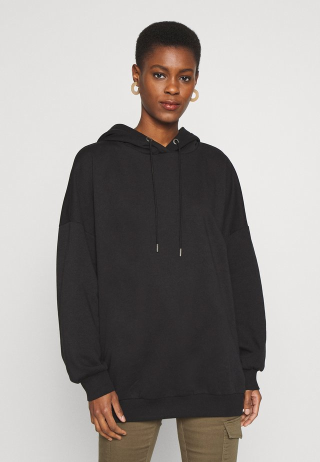 NMBELIEVE OVERSIZE - Bluza z kapturem - black