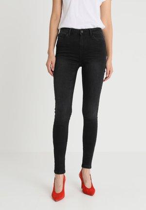 NMLUCY PIPING - Skinny džíny - black