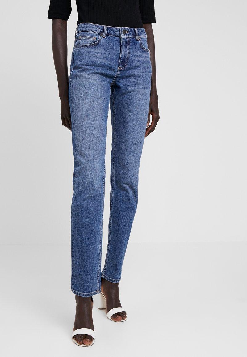 Noisy May Tall - NMJENNA  - Straight leg jeans - medium blue denim