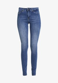 Noisy May Tall - NMLUCY - Vaqueros pitillo - dark blue denim - 4