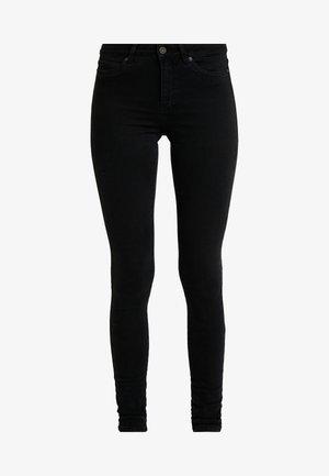 NMLUCY - Jeansy Skinny Fit - black denim