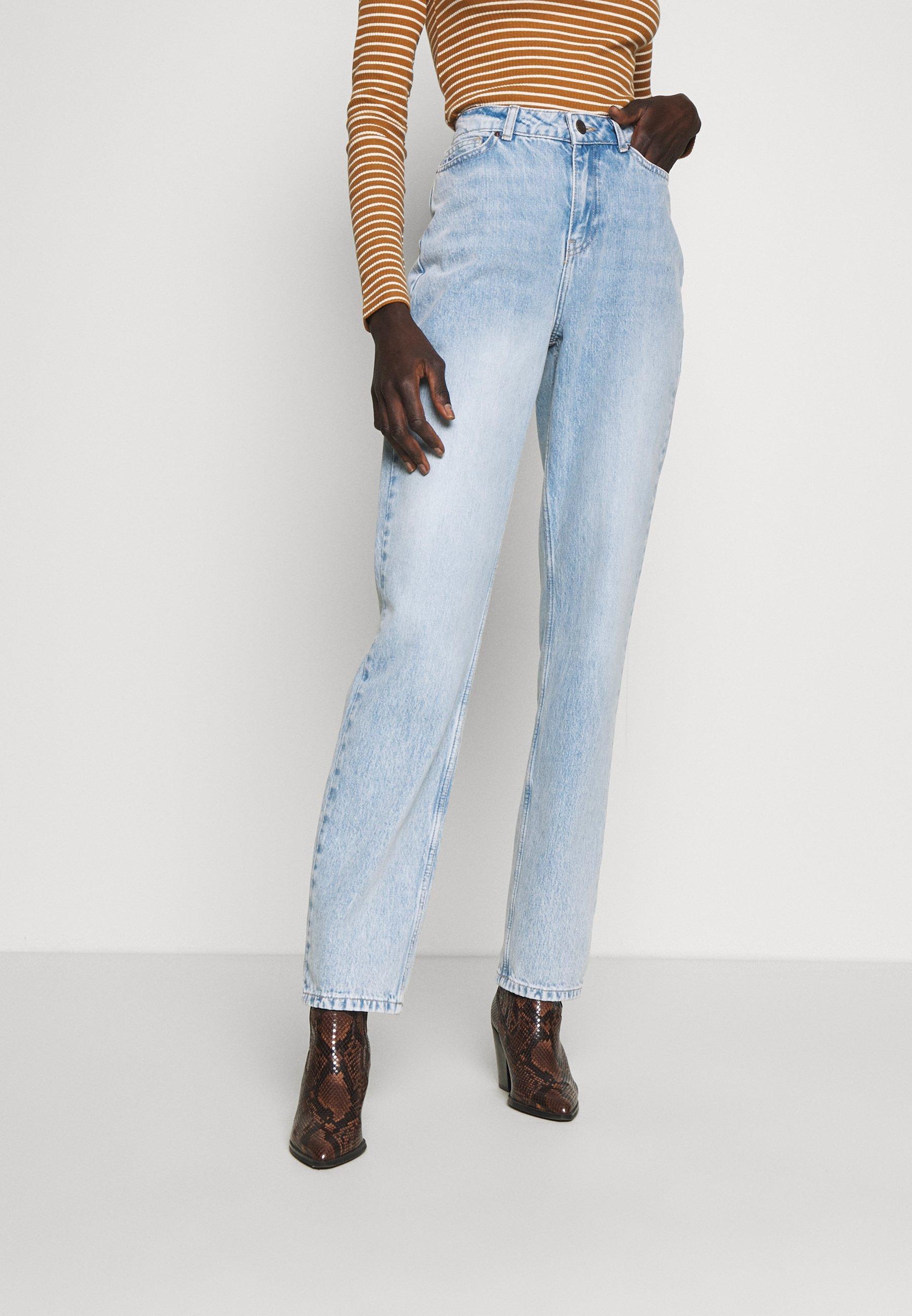 Noisy May Tall NMLISA VOLUM - Jeansy Straight Leg - light blue denim