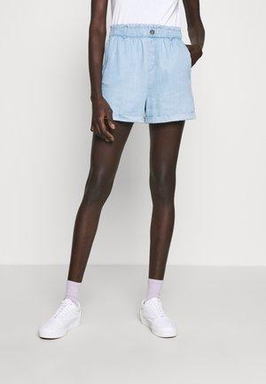 NMMARIA PAPERBACK - Denim shorts - light blue