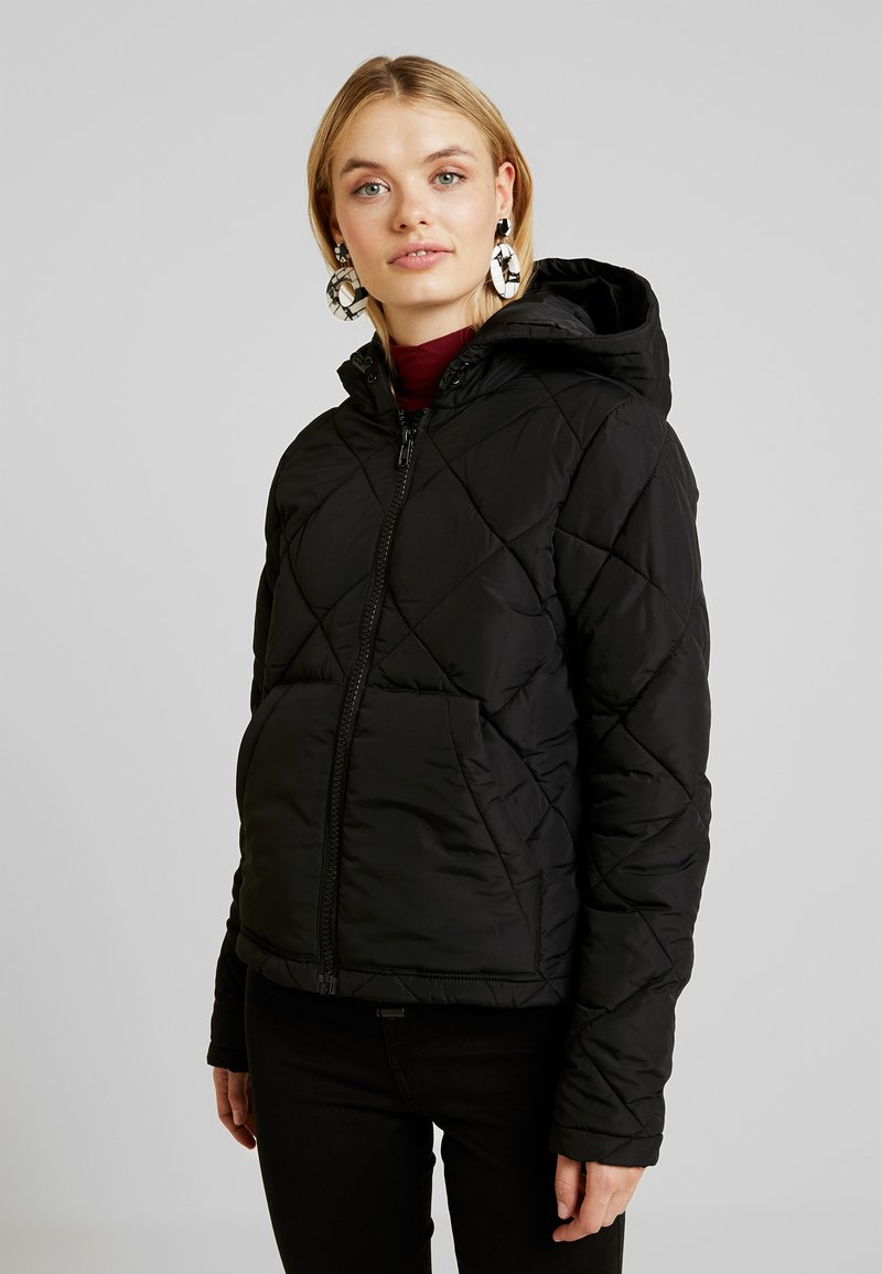 Noisy May Tall - NMMALCOM JACKET - Chaqueta de entretiempo - black