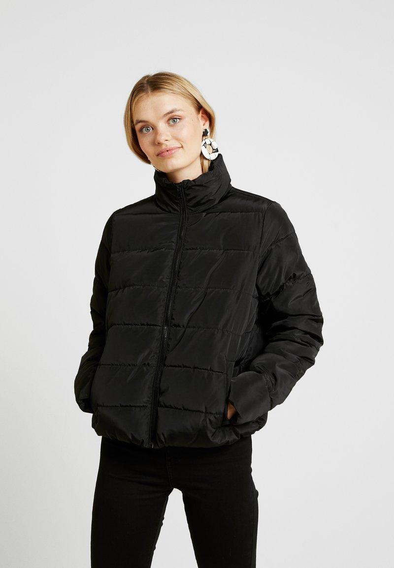 Noisy May Tall - NMMANON SOLID JACKET - Lehká bunda - black