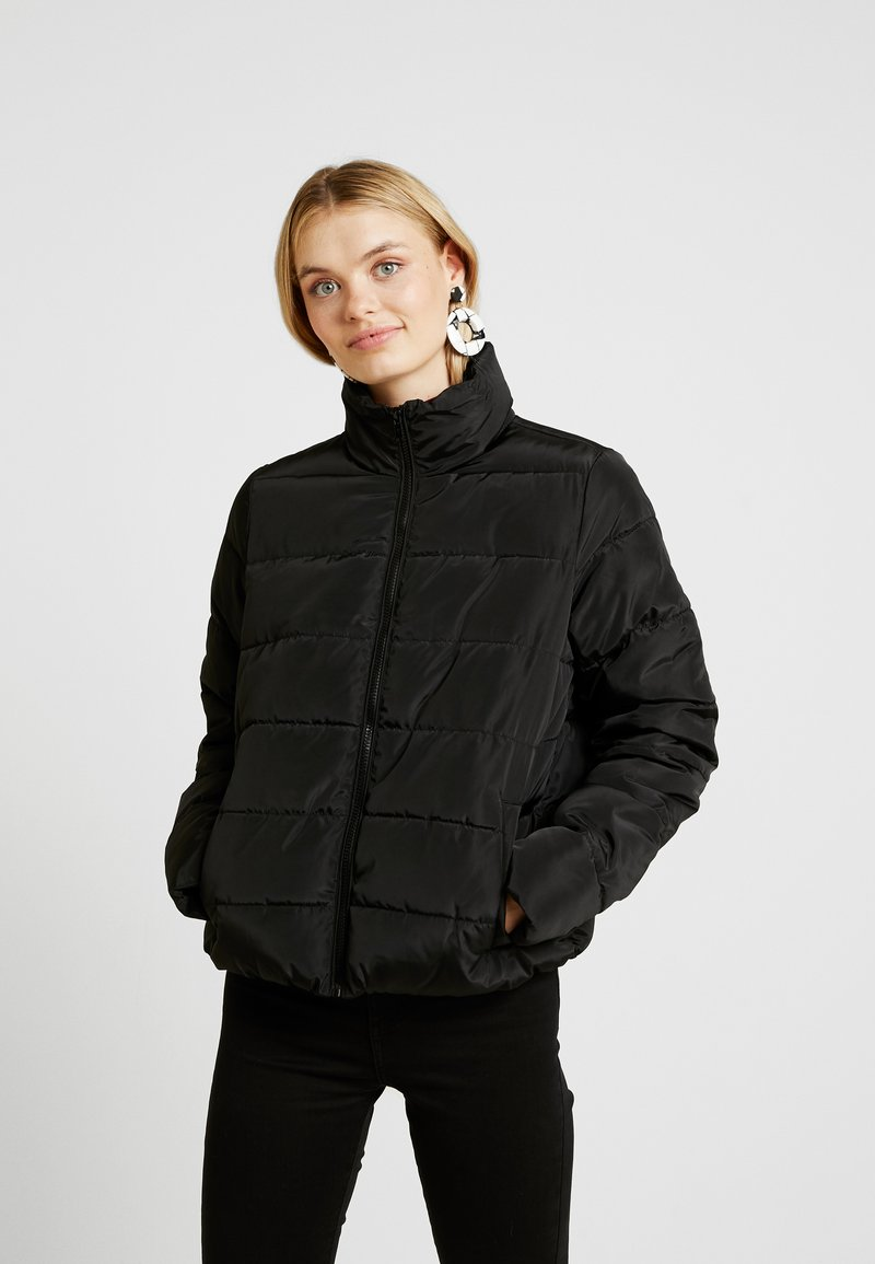 Noisy May Tall - NMMANON SOLID JACKET - Chaqueta de entretiempo - black