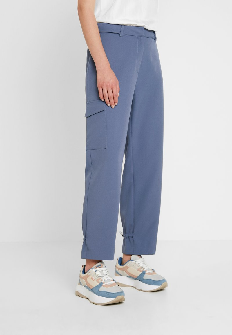 NORR - CASEY PANTS - Trousers - dusty blue