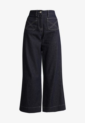 LUCAS WIDE LEG - Flared Jeans - dark blue