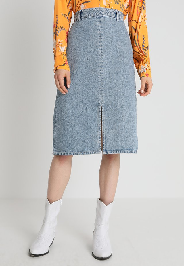 KADA SKIRT - A-line skirt - medium blue denim