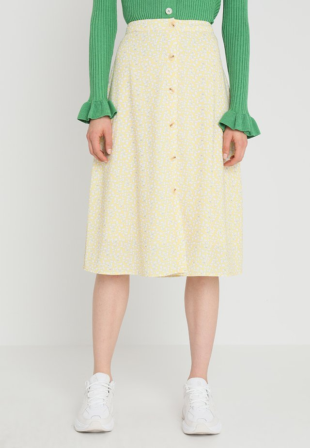 METTE SKIRT - A-linjekjol - light yellow