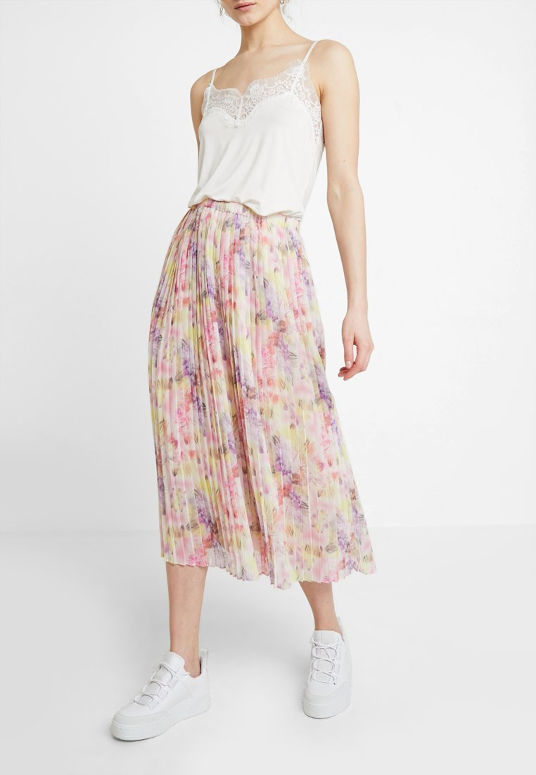 NORR - DAHLIA SKIRT - A-Linien-Rock - lilac/yellow