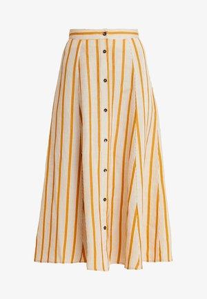 AMIRA SKIRT - Długa spódnica - golden brown/white