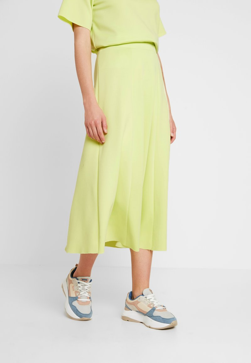 NORR - DEVIN SKIRT - Maxi skirt - neon yellow