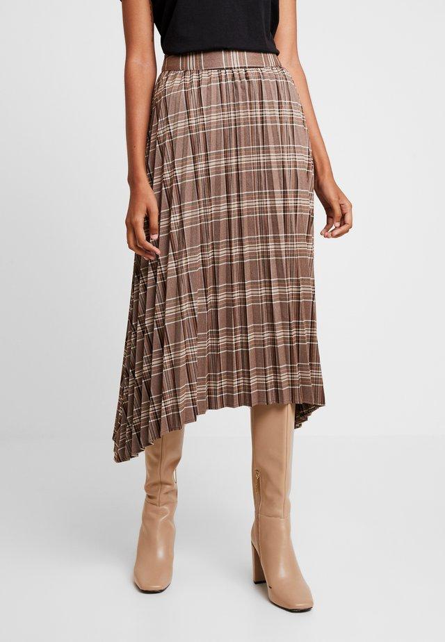 IRIS SKIRT - Plisovaná sukně - brown
