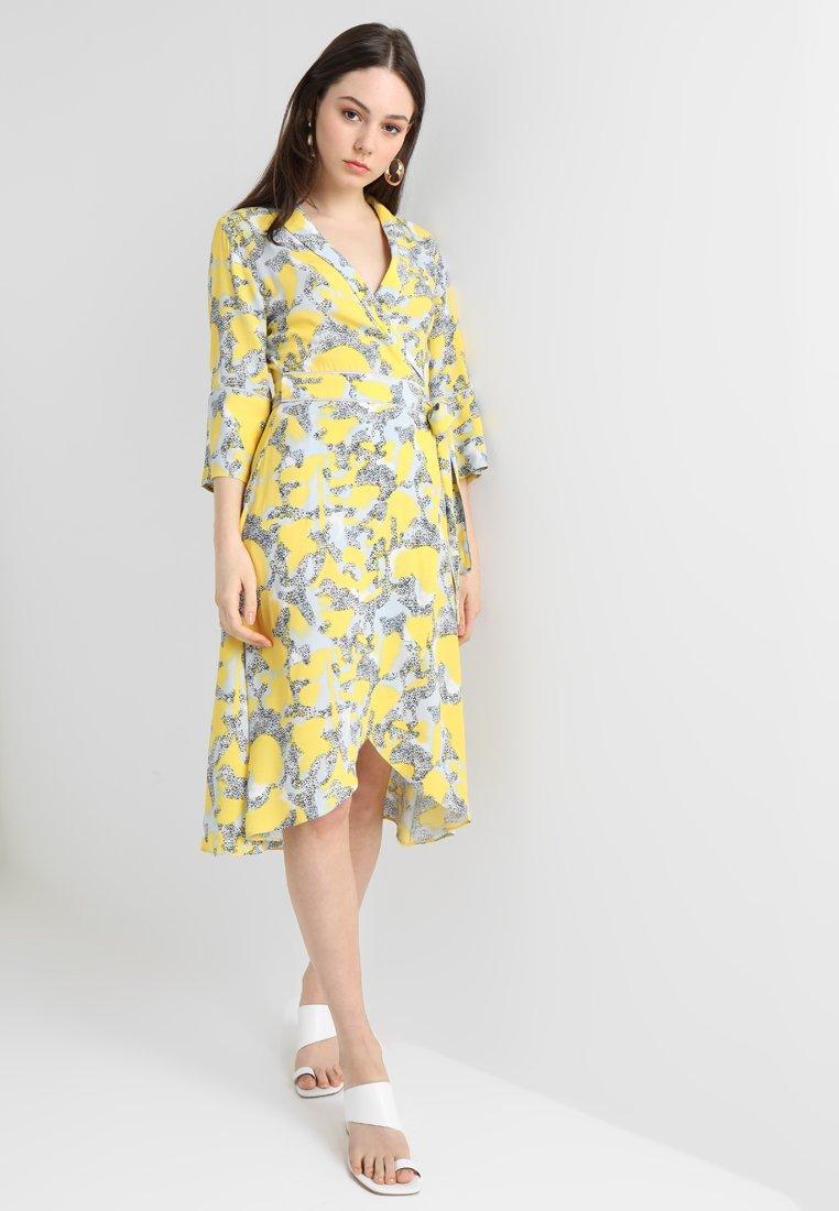 Norr Marla DressRobe Blue D'été yellow UqSpzMVG