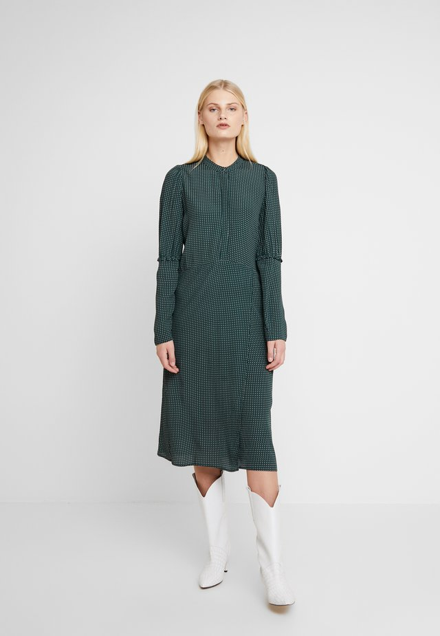 ALANA DRESS - Shirt dress - dark green/white