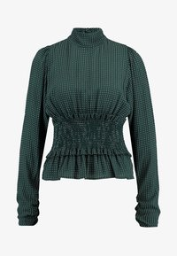 NORR - ALANA - Bluzka - dark green/white - 3