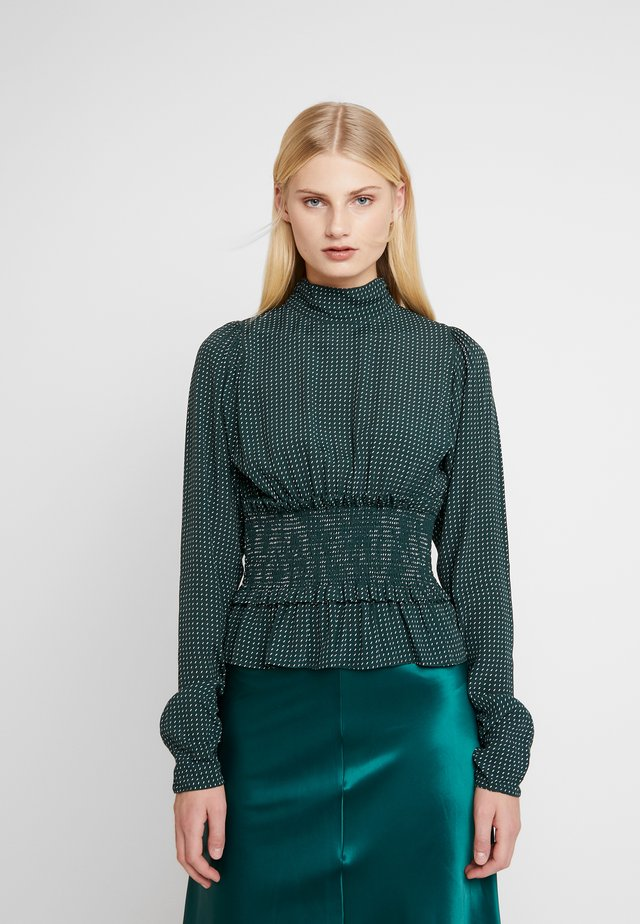 ALANA - Blouse - dark green/white