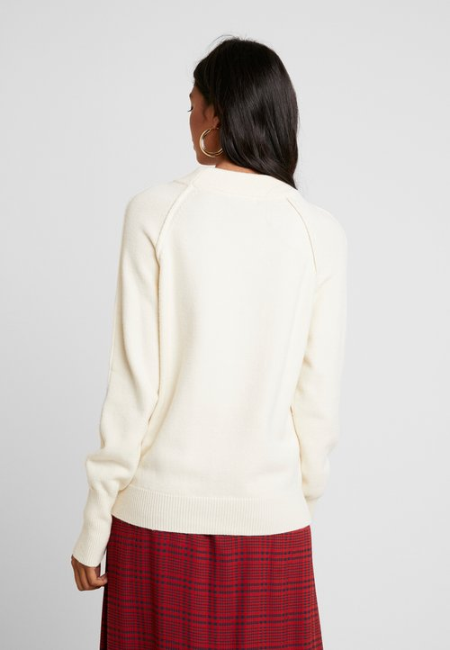 NORR LINDSAY - Sweter - off white Odzież Damska JZGU-NE8 30% OBNIŻONE