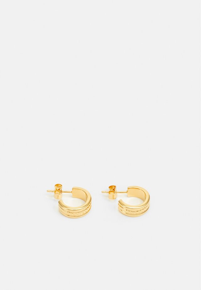ROPE HOOP EARRINGS - Earrings - gold-coloured