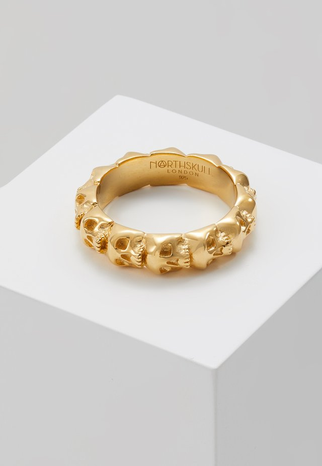 SKULL RING BAND - Prsten - gold-coloured