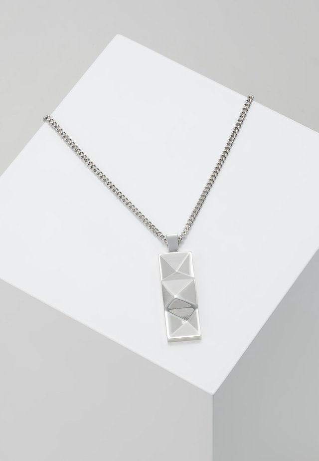 OUT TAG NECKLACE - Náhrdelník - silver-coloured