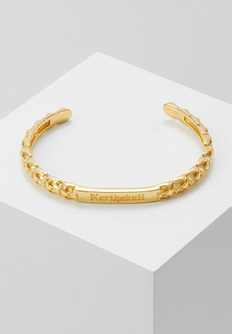 Northskull - MEDIUS SKULL CUFF - Pulsera - gold-coloured