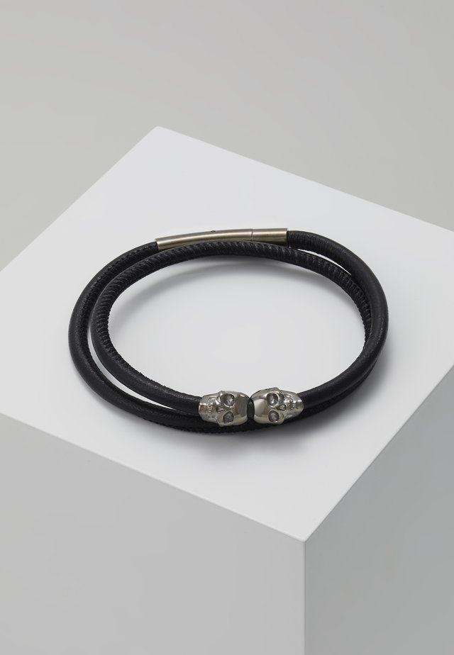 SKULL WRAP AROUND BRACELET - Náramek - black